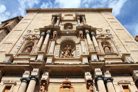 carmen: Valencia, Spain. Facade of old Carmen Monastery.