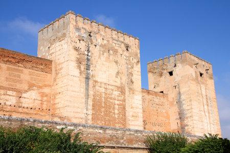 Granada in Andalusia region of Spain. Alhambra castle.