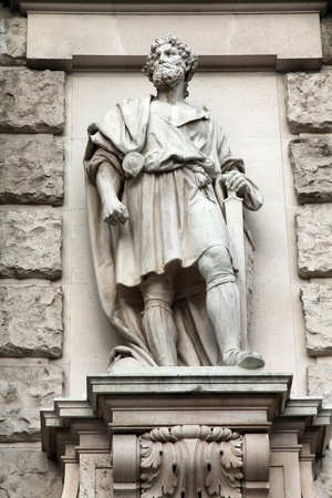 germanic: Vienna, Austria - statue in Neue Burg (part of Hofburg palace) facade. Sculpture depicts Marcomanni Germanic tribe