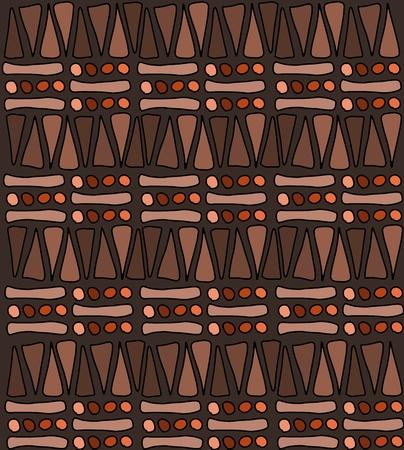 dessin tribal: Tribal africain mod�le doodle - Texture de fond simples