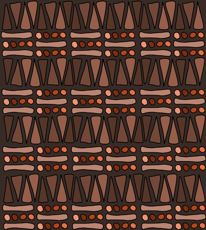 african art: Tribal african pattern doodle - simple background texture Illustration
