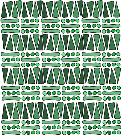 Tribal african pattern doodle - simple background texture Illustration