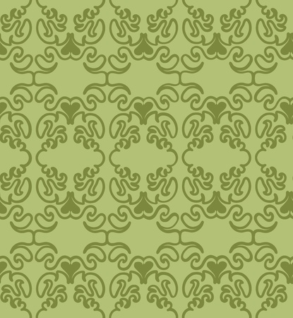 Seamless background - intricate floral ornaments. Wallpaper design element. Abstract texture. Illustration