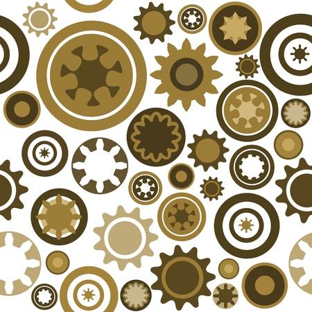 cogs: Modello di industria - trama gear macchine senza soluzione di continuit�. Illustrazione astratto con ruote dentate e parti meccaniche.