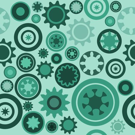Machine pattern - seamless machinery gear texture. Abstract illustration with cogwheels and mechanical parts. Stock Vector - 10725459