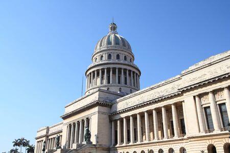 capitolio: Havana, Cuba - city architecture. Famous National Capitol (Capitolio Nacional) building.
