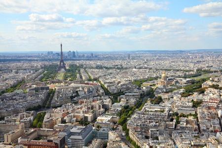 Paris, France - aerial city view Eiffel Tower photo