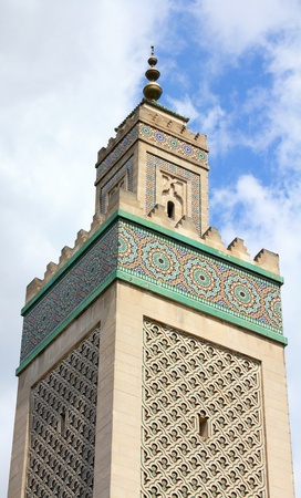 Paris, France - famous Grand Mosque in Latin Quarter photo