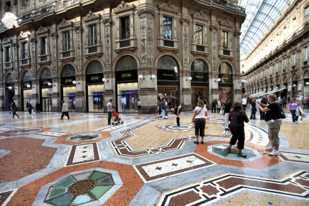 MILAN - OCTOBER 6: Vittorio Emmanuele II shopping gallery on October 6, 2010 in Milan, Italy. Inaugurated in 1865, the gallery claims to be the oldest shopping center worldwide.