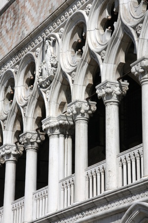 doge's palace: Doges Palace in Venice, Italy. Famous old architecture.
