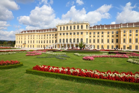 heritage site: Vienna, Austria - Schoenbrunn Palace, a UNESCO World Heritage Site. Editorial