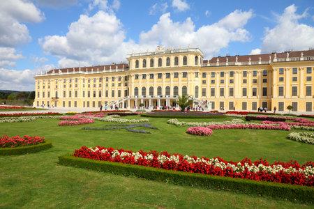 Vienna, Austria - Schoenbrunn Palace, a UNESCO World Heritage Site. 新闻类图片
