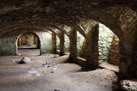 Krzyztopor castle in Poland. Mysterious cellars of old landmark. Editorial