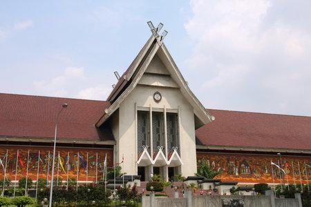 malaysia city: Kuala Lumpur, Malaysia - National Museum building. Landmark in Asia.