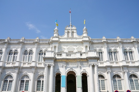 George Town - City Hall. Penang Island, Malaysia. Colonial architecture.