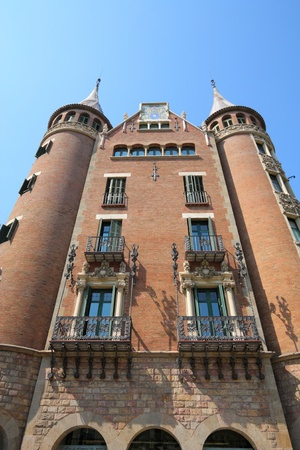 josep: Casa de les Punxes. Famous modernist architecture landmark in Barcelona, Spain. Designed by Josep Puig i Cadafalch.