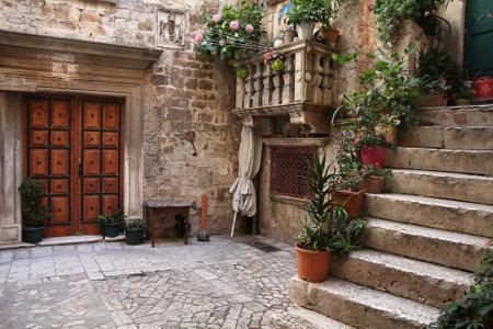 chorwacja: Chorwacja - Trogir w Dalmacji (światowego dziedzictwa UNESCO witryny). Stare miasto szczegółów.
