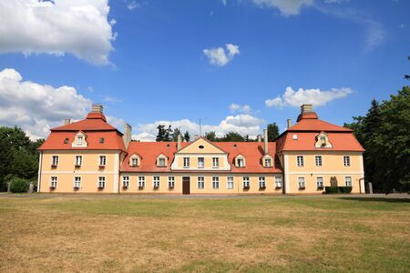wielkopolska: Poland - architecture in Kornik. Greater Poland province (Wielkopolska). Outbuilding next to the castle.
