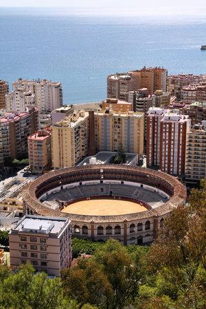 bull ring: Malaga in Andalusia region of Spain. Famous bull ring stadium.