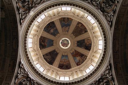reggio emilia: Church of Saints Peter and Prospero in Reggio Emilia, Italy - Emilia-Romagna region. Dome interior. Editorial