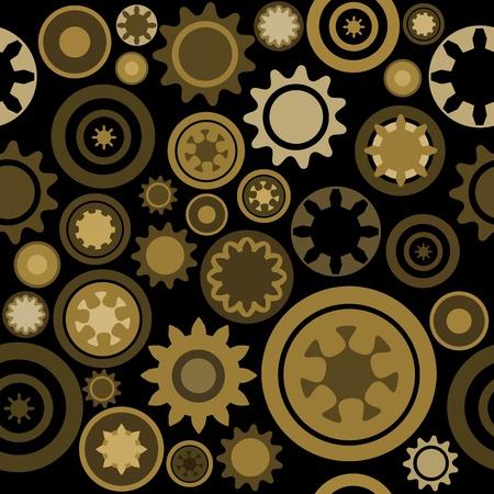 cogs: Industrial modello - senza soluzione di tessitura ingranaggi di macchinari. Abstract illustrazione con ingranaggi e parti meccaniche. Vettoriali