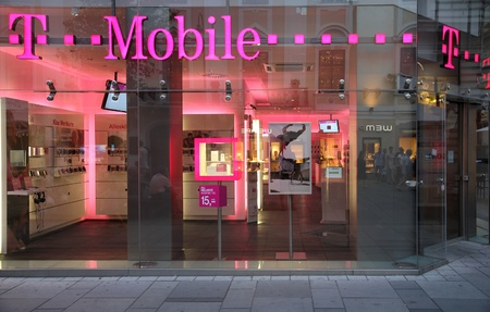 VIENNA - SEPTEMBER 4: T-Mobile store on September 4, 2011 in Vienna.  As of 2011, T-Mobile (founded 1990) is among top 20 wireless communication providers worldwide (150m subscribers). Stock Photo - 10950698