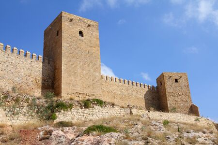 alcazaba: Antequera in Andalusia region of Spain. Alcazaba castle in typical Spanish town.
