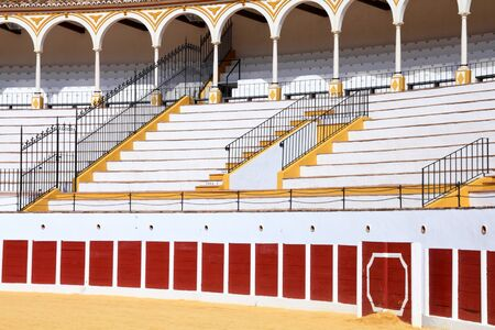 bull ring: Antequera in Andalusia region of Spain. Typical Spanish town. Bull ring stadium.