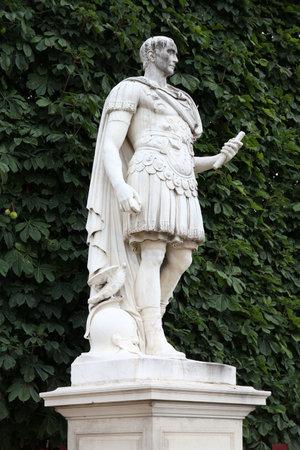 Paris, France - statue of Julius Caesar in Tuileries Garden