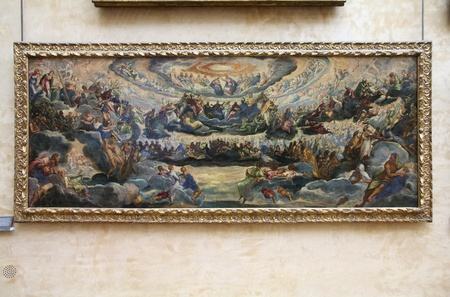 PARIS - JULY 22: Tintoretto painting