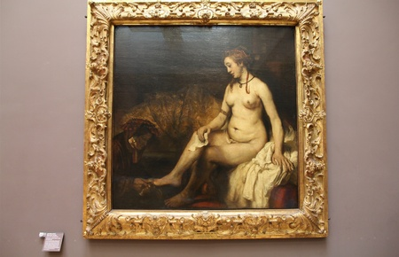 consistently: PARIS - JULY 22: Rembrandt painting Bathsheba with King Davids Letter on July 22, 2011 in Louvre Museum, Paris, France. With 8,5m annual visitors, Louvre is consistently the most visited museum worldwide.