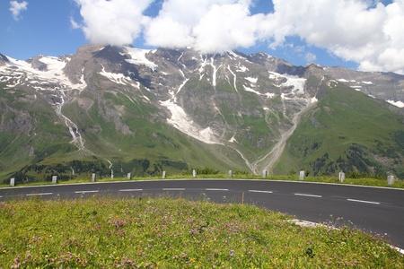 hochalpenstrasse: Alps in Austria. Hohe Tauern National Park. Hochalpenstrasse - famous mountain road.