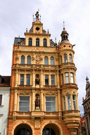 ceske: Old town of Ceske Budejovice in Czech Republic