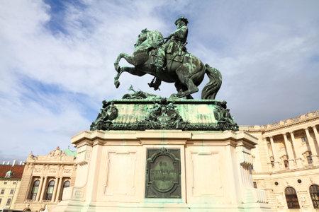 eugene: Vienna, Austria - Hofburg Palace and monument of Eugene of Savoy.