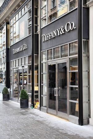 VIENNA - SEPTEMBER 5: Tiffany & Co store on September 5, 2011 in Vienna. The jewelry company founded in 1837 is among most recognized luxury brands in the world.