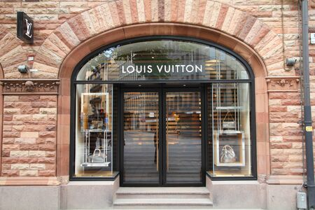 STOCKHOLM - MAY 31: Louis Vuitton store on May 31, 2010 in Stockholm. Forbes claims Louis Vouitton was the most powerful luxury brand in the world in 2008 with $19.4bn USD value. LV was founded in 1854.