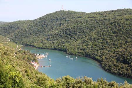 Lim bay in Istria peninsula, Croatia. Peculiar geographic feature found near Rovinj photo
