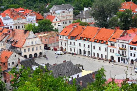 kazimierz: Kazimierz Dolny, Poland - city architecture at the market square. Editorial