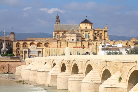 Cordoba, Spain. Cityscape with the Great Mosque (currently Catholic cathedral).  Stock Photo