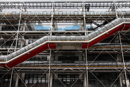 postmodern: PARIS - JULY 20: Centre Georges Pompidou on July 20, 2011 in Paris, France. The postmodern structure completed in 1977 is one of most recognizable landmarks in Paris. Editorial