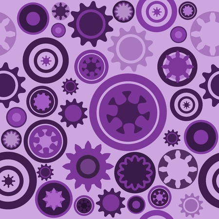 Machine pattern - seamless machinery gear texture. Abstract illustration with cogwheels and mechanical parts. Vector