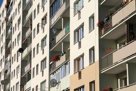 gigantesque: Pologne - ville de Gdansk (savons aussi nas Dantzig) dans la r�gion de Pom�ranie. District Zabianka - gigantesques immeubles post-socialistes.