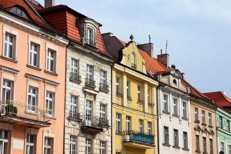 rynek: Poland - city view in Kalisz. Greater Poland province (Wielkopolska). Buildings at the main square (Rynek).