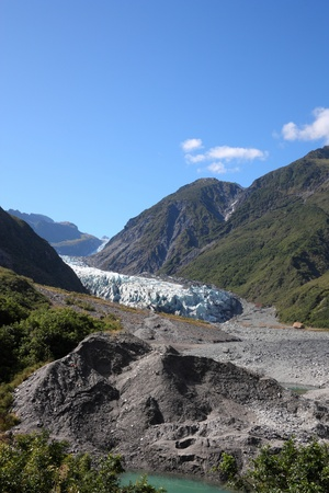 fox glacier: New Zealand - Fox Glacier in Westland National Park on the West Coast of South Island