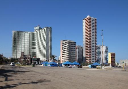 Havana, Cuba - contermporary city skyline architecture. Vedado district. photo