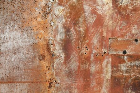 Rusty metal grunge background. Rusted steel tin abstract pattern. Stock Photo - 11679392