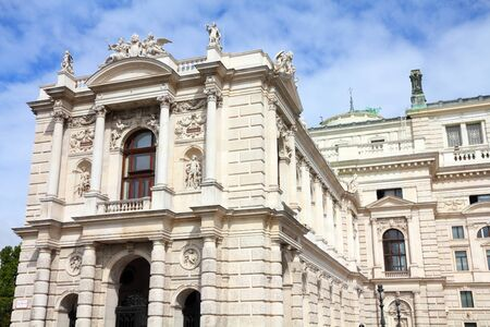 Vienna, Austria - Burgtheater theatre. The Old Town is a UNESCO World Heritage Site.