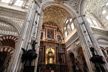 Cordoba, Spain. Mezquita - The Great Mosque (currently Catholic cathedral). UNESCO World Heritage Site. Interior view.