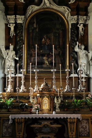 Parma, Italy - Emilia-Romagna region. Altar in Church of Annunciation (Chiesa della Santissima Annunziata). Stock Photo - 11805266