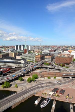 norrmalm: Stockholm, Sweden. View of Norrmalm borough from City Hall.
